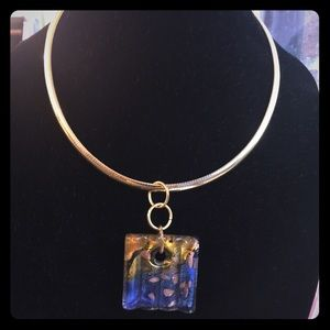 Jewelry - Murano glass pendant and necklace